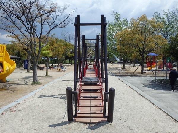 福山メモリアルパークのわんぱく広場,アスレチック,広島,