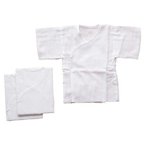 日本製 ホワイト無地 ガーゼ短肌着 3枚組セット 新生児用,赤ちゃん,ガーゼ,