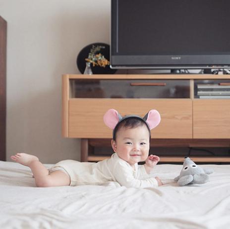 ねずみカチューシャの赤ちゃん,子ども,記念撮影,