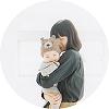 ママに抱っこされている赤ちゃん,子ども,記念撮影,