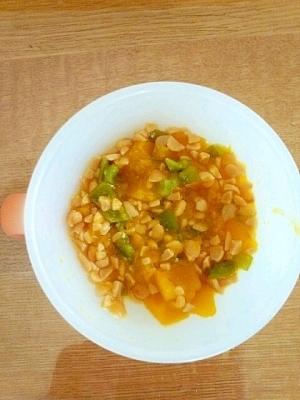 離乳食☆後期☆ かぼちゃとピーマンの納豆和え,赤ちゃん,納豆,