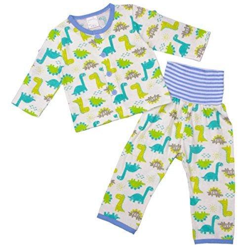 ボーイズ ベビー パジャマ[enfant pur]腹巻付ロールアップ袖 長袖パジャマ 上下セット 恐竜柄 ロールアップパジャマ 男の子 男児 95cm WH-ホワイト,ベビーパジャマ,