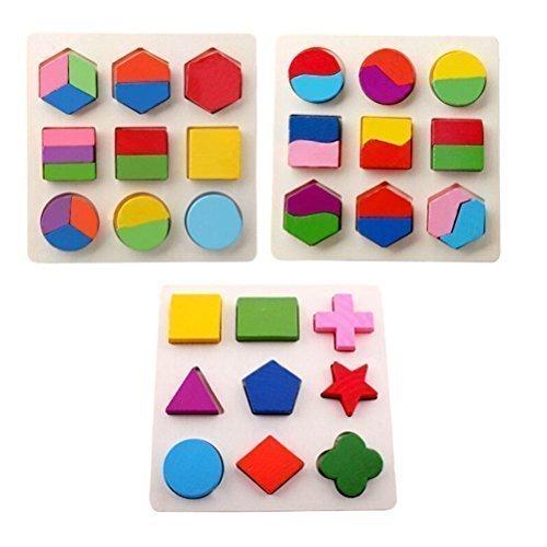 kimurea select (キムレアセレクト) モンテッソーリ 知育玩具 積み木 型はめ パズル 幼児 木製 パズル 3種類 セット 積み木 おもちゃ,積み木,いつから,おすすめ