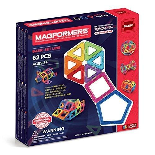 ジムワールド マグ・フォーマー ベーシックセット62ピース MF701007,知育玩具,5歳,おすすめ