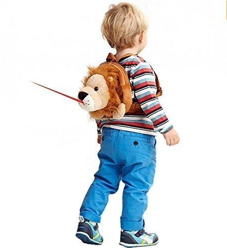 【ベビーアムール 】Bebamour 迷子防止リュック ハーネス隠し可能 アニマル ヌイグルミ 子ども用バッグ 迷子リュック(ライオン),子ども,ハーネス,