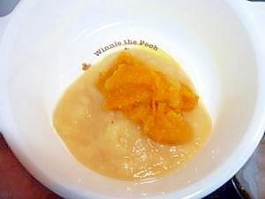 離乳食・初期!りんごとかぼちゃのデザート,離乳食,りんご,