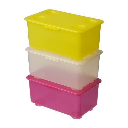 GLIS ふた付きボックス,おもちゃ,収納,IKEA