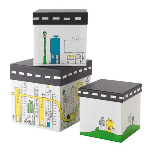 FLYTTBAR ふた付きボックス,おもちゃ,収納,IKEA