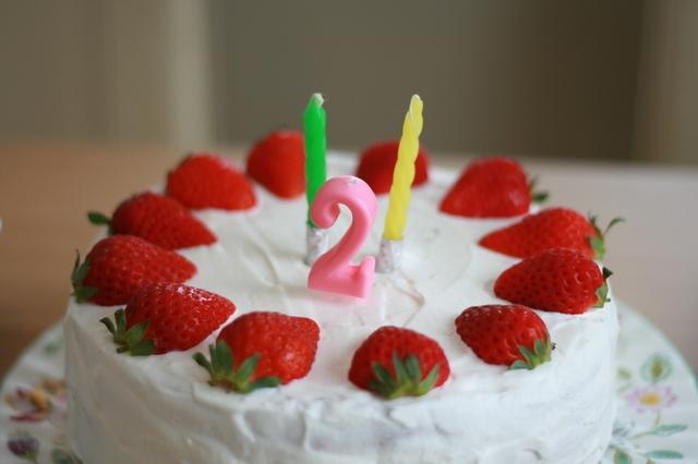 2歳誕生日ケーキ,2歳,誕生日,男の子