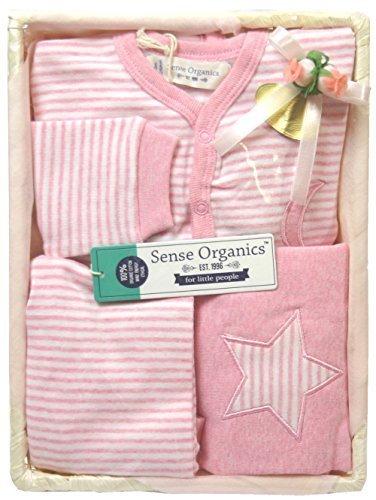 出産祝い 女の子 オーガニックコットン ベビー服3点セットMTB ピンク (74-74),出産祝い,ベビー服,女の子