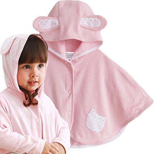 (ハニーブロッサム) HONEY BLOSSOM ベビー 春夏 ポンチョ カーディガン 紫外線 防止 日よけ 空調対策 海 プール 可愛い 羽織り 夏服 男の子 女の子 赤ちゃん ケープ マント 出産祝い (ピンク),出産祝い,ベビー服,女の子