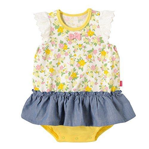 ミキハウス ホットビスケッツ (MIKIHOUSE HOT BISCUITS) ブルマ付ワンピース 72-1901-974 70cm 黄,出産祝い,ベビー服,女の子