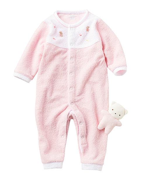 カバーオールとクマのギフトセット|ファミリア,出産祝い,ベビー服,女の子