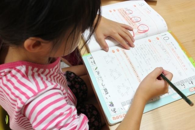勉強する子ども,かけ算,ポスター,九九