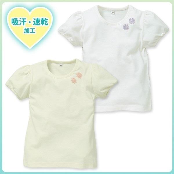 無地花モチーフ付半袖Tシャツ,西松屋,子供服,