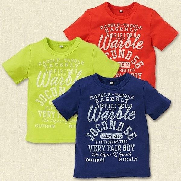 英字ナンバープリント半袖Tシャツ,西松屋,子供服,