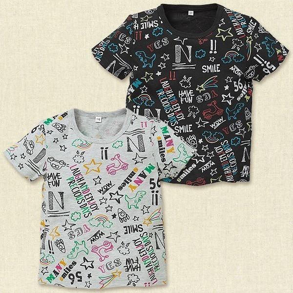 ポップアート柄半袖Tシャツ,西松屋,子供服,