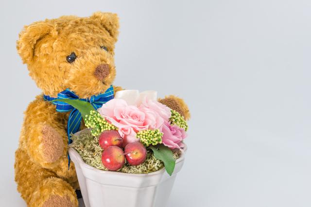 出産祝いをイメージしたお花,出産祝い,花,