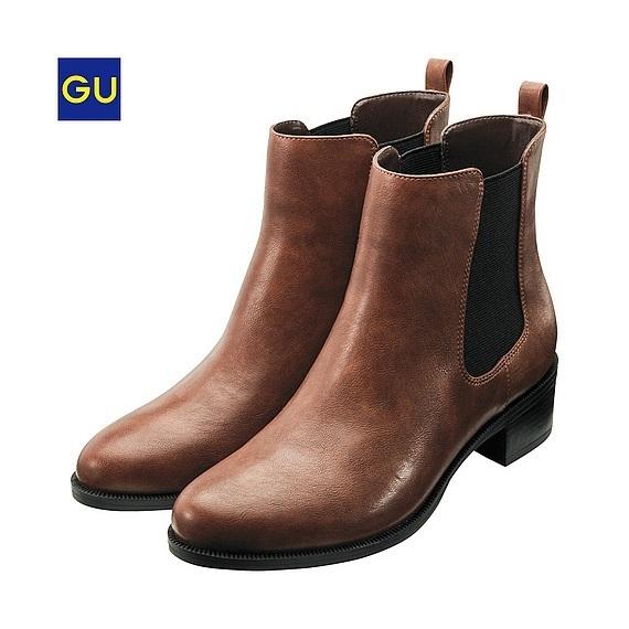 サイドゴアブーツ,GU,靴,