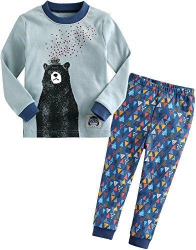 [Vaenait Baby]キッズ子供ベビー服綿100%ルームウェア長袖パジャマ寝間着上下セット Dream Bear L,キッズパジャマ,男の子,おすすめ