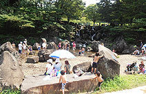 県立 四季の森公園のじゃぶじゃぶ池,公園,水遊び,神奈川