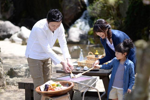 るり渓温泉,京都,バーベキュー,雨