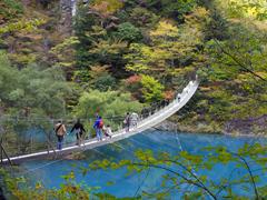 寸又峡,静岡,紅葉,スポット