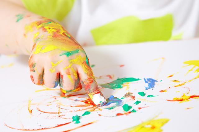赤ちゃんの手と絵具,出産祝い,写真立て,