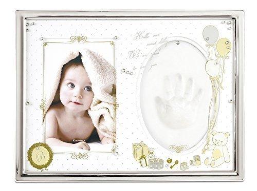 キシマ Kishima ポルテ ベビーフレーム シルバー KP-31128 0ヶ月~12ヶ月 手型 足型,出産祝い,写真立て,