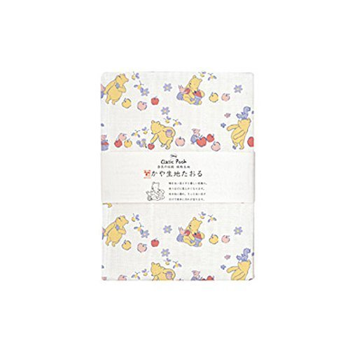 (プレーリードッグ) PRAIRIE DOG 日本製 奈良の伝統 かや生地 ガーゼ タオル ディズニーシリーズ 10.りんごとプーさん【TY-119】,出産祝い,ガーゼタオル,