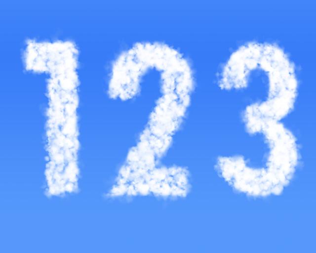 1,2,3の数字,歯みがき,親子,習慣