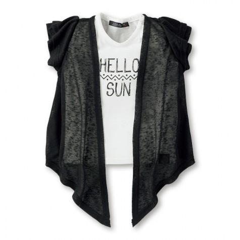 女の子ジレ付きTシャツ,しまむら,子供服,バースデイ