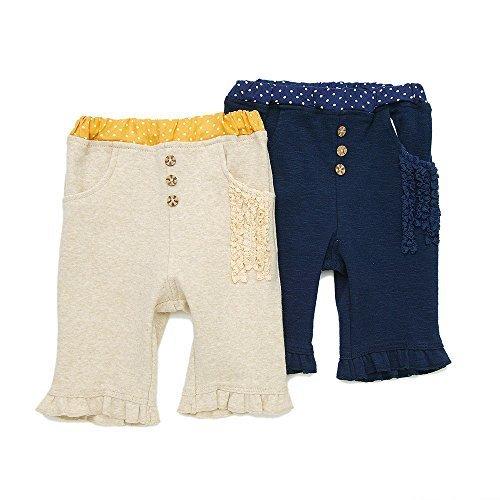 Lily ivory(リリー アイボリー) ハーフパンツ (80~130cm) キムラタンの子供服 (71026x71326-161b) ベージュ 100,キッズ,ハーフパンツ,