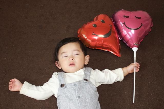 風船と赤ちゃん,出産祝い,バルーン,