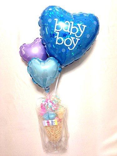 バルーンパフェ for baby boy,出産祝い,バルーン,