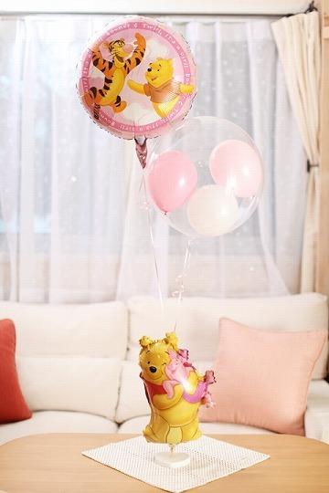 バルーン ディズニー くまのプーさん 出産祝い 女の子,出産祝い,バルーン,