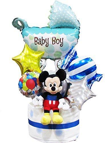 おむつケーキ ディズニー ミッキー バルーン 出産祝い,出産祝い,バルーン,
