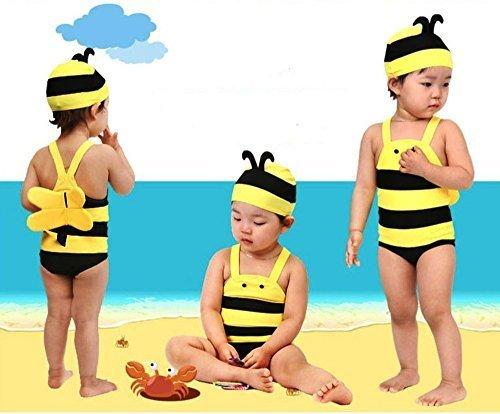 Beach Baby ミツバチ水着 スイムキャップセット ベビー水着 (2:70-80),ベビー水着,男の子,おすすめ