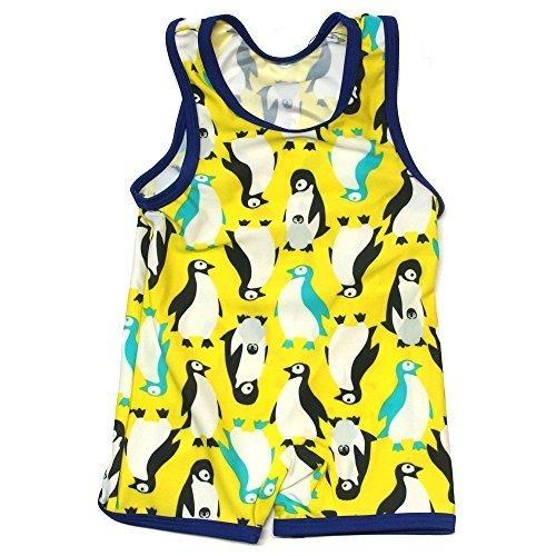 (アンパサンド) AMPERSAND Boy'sペンギン総柄グレコ水着 80 ライム,ベビー水着,男の子,おすすめ