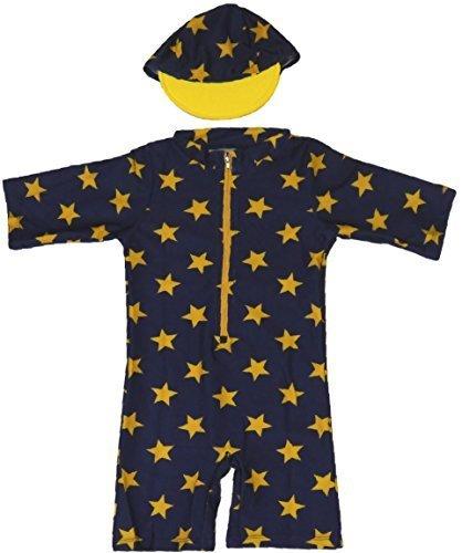 【Babystity】 星柄 水着 帽子 2点セット (80cm-90cm) KR-SWI003,ベビー水着,男の子,おすすめ