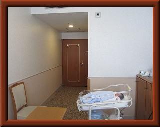 母子同室の様子(オリジナル),芸能人,出産,病院