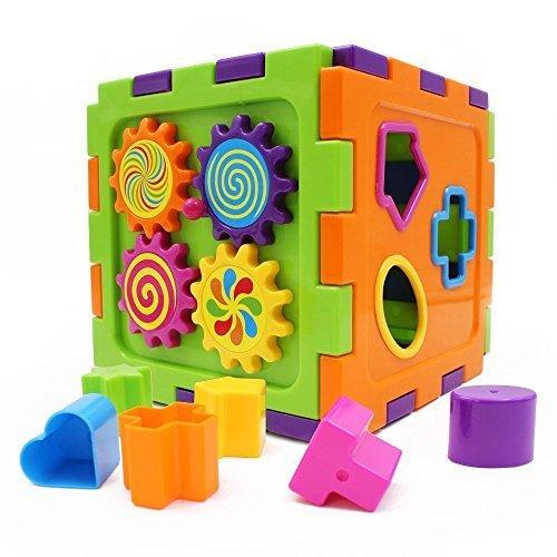 Wishtime パズルっこ 型はめ パズル 幼児 ボックス ブロック 形あわせ たんぐらむ 周り歯車 子供 知育 おもちゃ,二人目,出産祝い,男の子