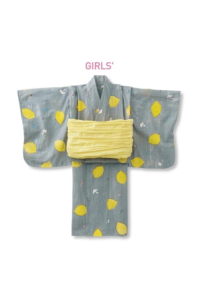 京都Subikiawa食器店さんとつくった レトロなレモン柄の浴衣,フェリシモ,通販,雑貨