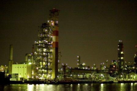 「川崎工場夜景屋形船クルーズ」の夜景,川崎,工場夜景,