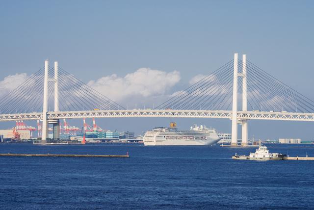 横浜ベイブリッジ,赤レンガ倉庫,横浜クルーズ,