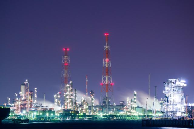 京浜工場地帯の夜景,横浜,工場夜景,