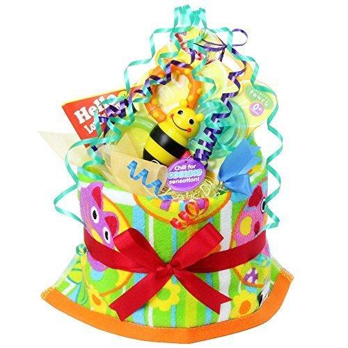 ご出産のお祝いにポップで楽しいオムツケーキ 《マイ リトル パル》,出産祝い,プレゼント,ランキング