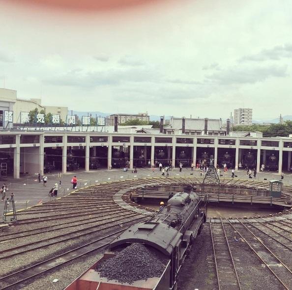 転車台,京都,鉄道博物館,展示車両
