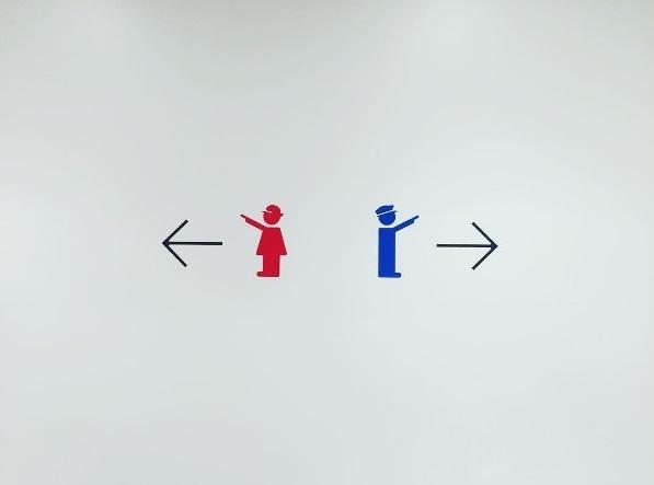 京都てっぱく トイレ表示,京都,鉄道博物館,展示車両