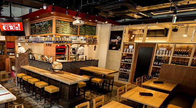 Pizzeria&Bar CERTO! 代々木八幡店の店内風景,代々木,ランチ,子連れ